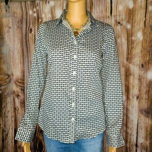 Banana Republic Non Iron Fitted Heart Print Size 6